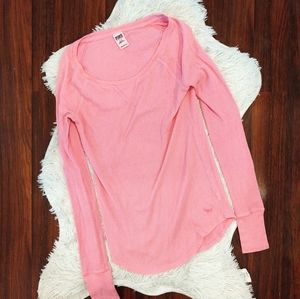 PINK Thermal Henley Long Sleeve